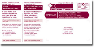 Picture of the Voter Information Card