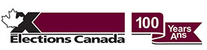 Elections Canada logo 100 years anniversary
